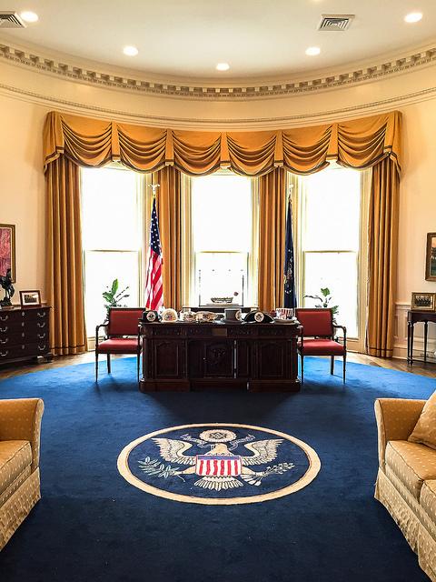 Oval Office replica at American Village Montevallo, Alabama