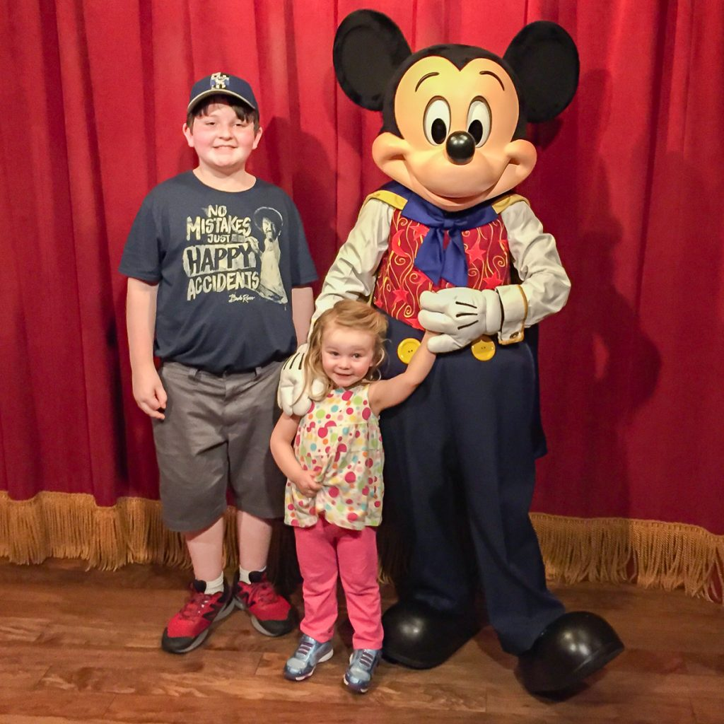 Meeting Mickey Mouse at Town Square Theater