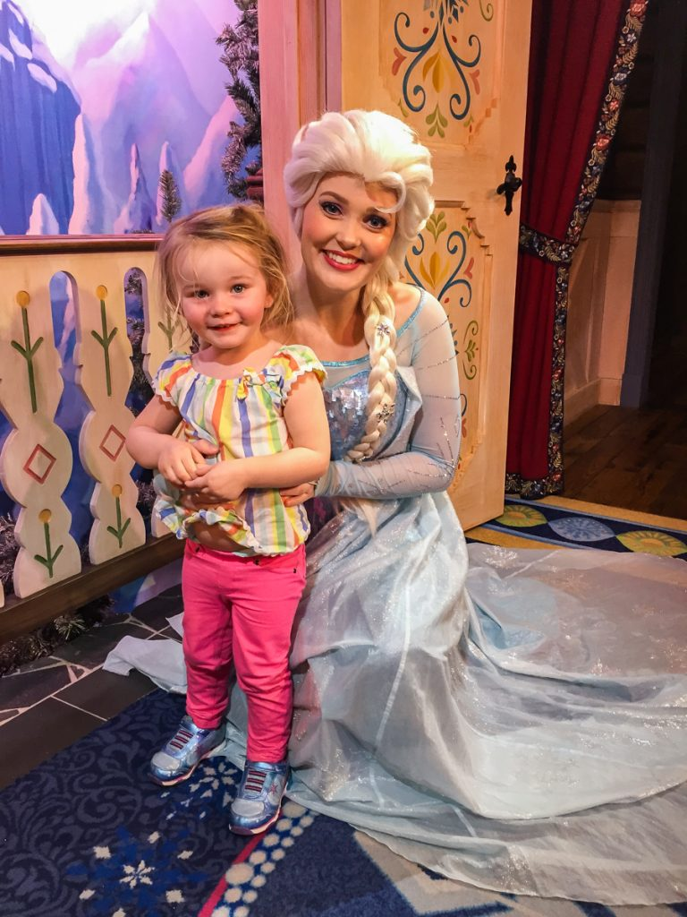 Character Meet and Greet with Elsa from Frozen at Norway in Epcot