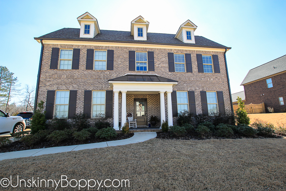 Thomas Georgian floorplan- colonial style new construction home in Riverwoods subdivision- Helena, Alabama
