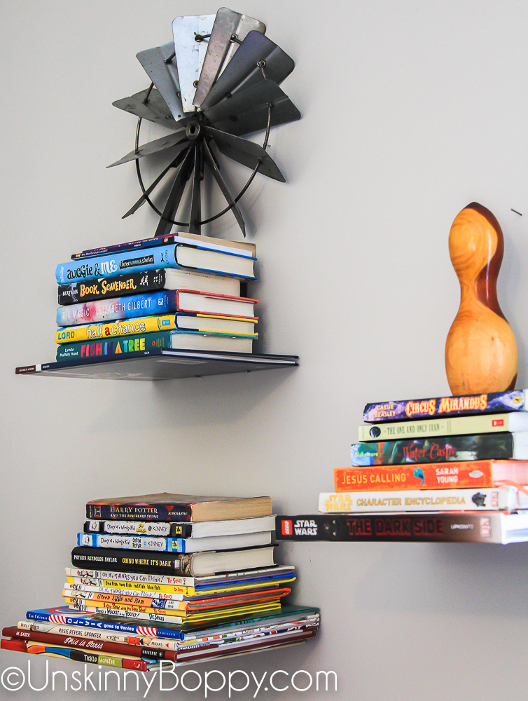 Umbra floating book brackets on wall