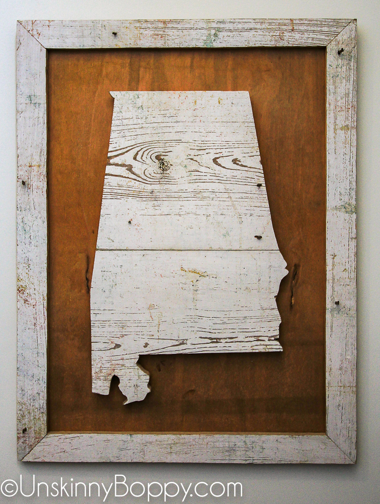 Alabama vintage wood wall plaque