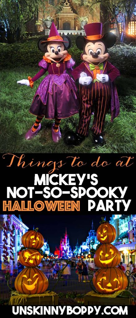 Things to do at Mickey's Not So Spooky Halloween Party Walt Disney World