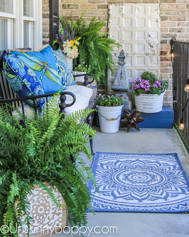 How to decorate front porch for Spring-6
