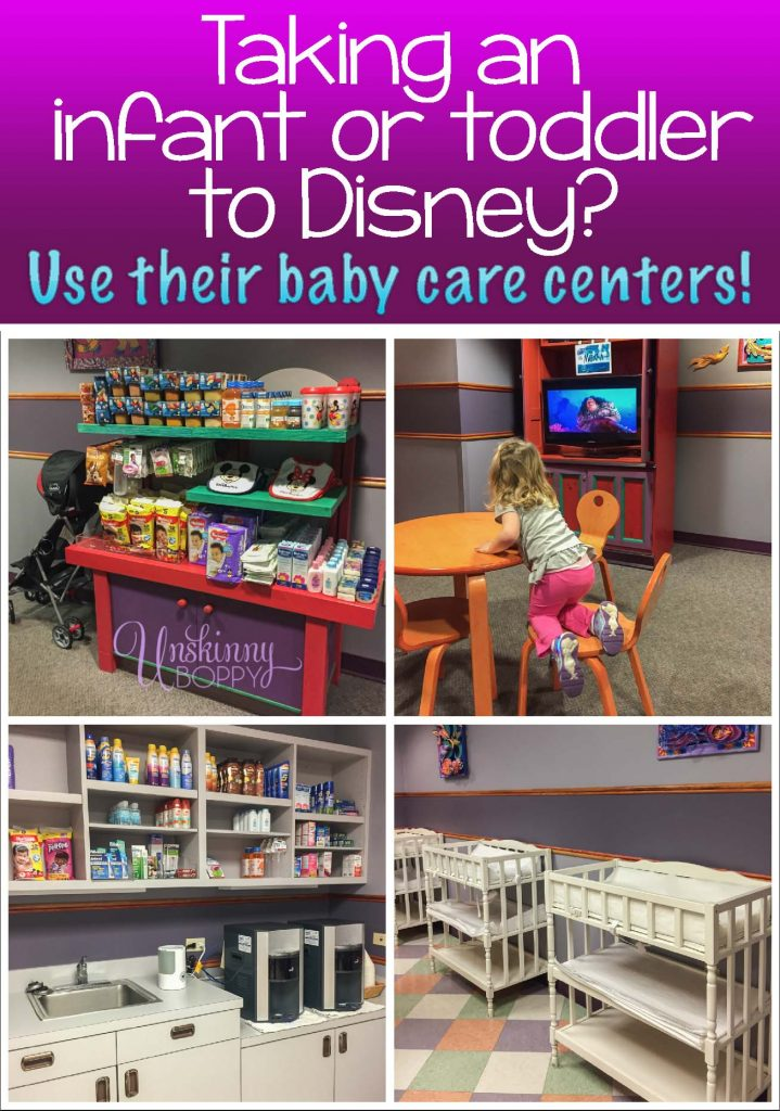 Huggies baby care centers at Disney World for infants and toddlers