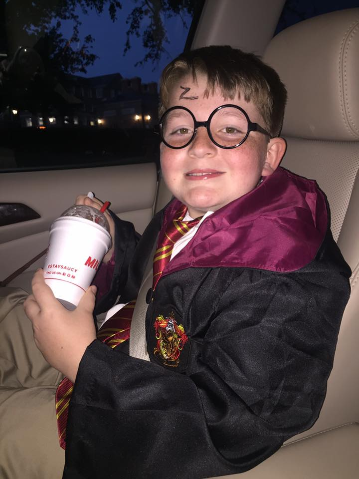 7f9dc5eb14 Last year we attended about 12 Harry Potter themed events and Garrett  dressed up for every one of them.