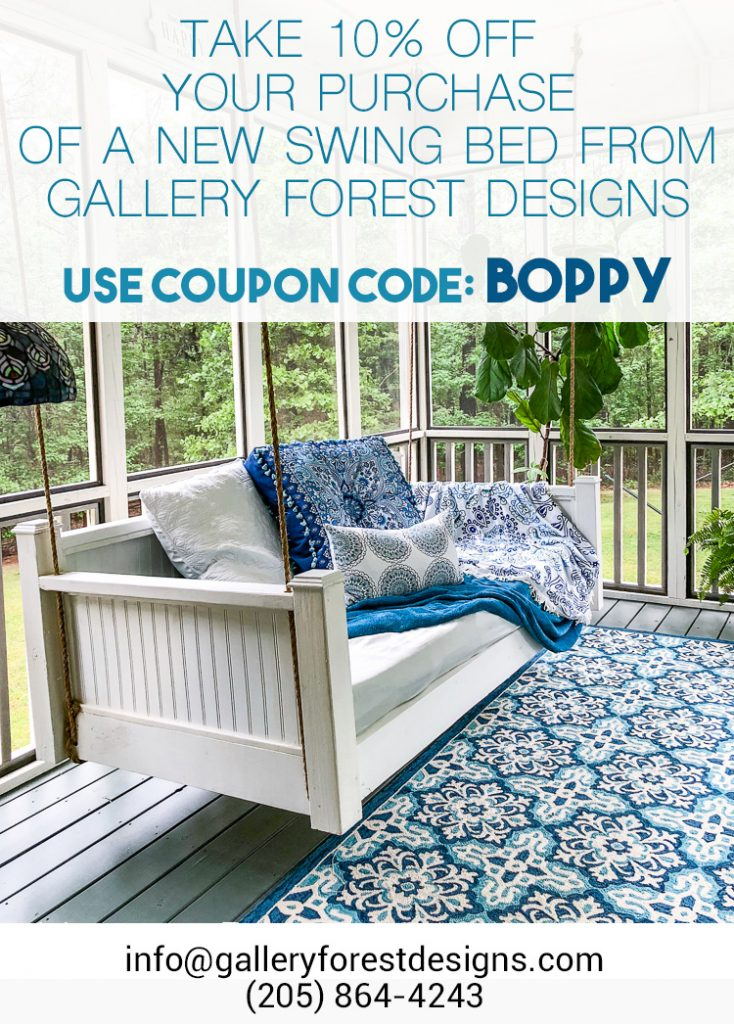 coupon code for swing bed for porch