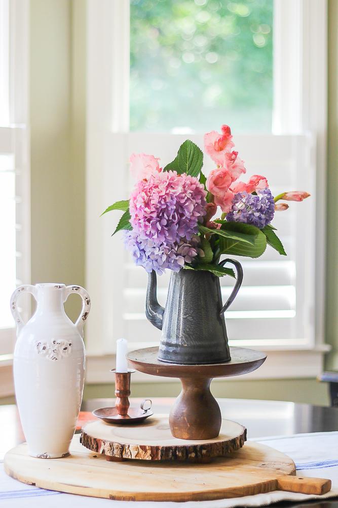 Hydrangeas are great in flower arrangements