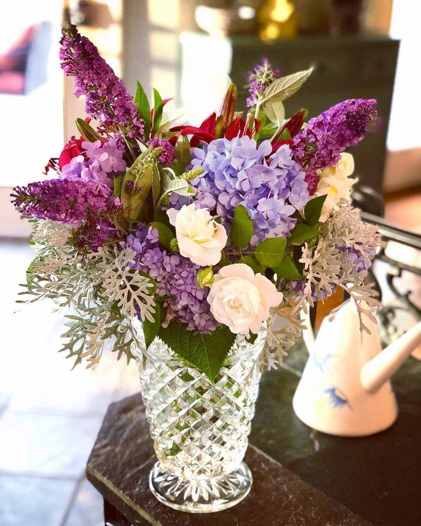 Flower arrangement from garden cuttings