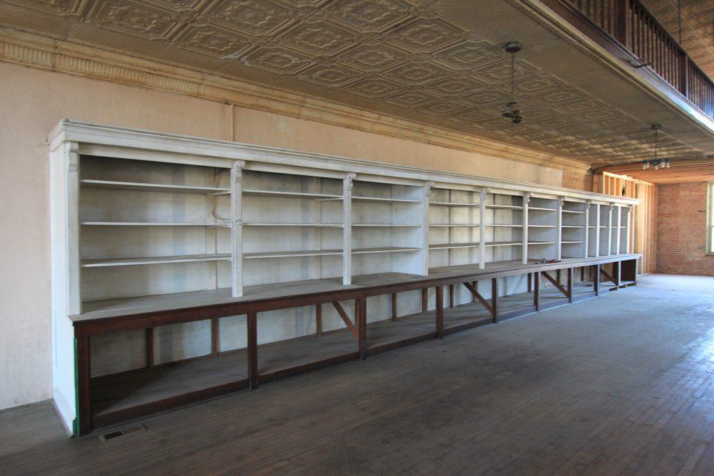 Turn-of-the-Century Mercantile Store bookshelves
