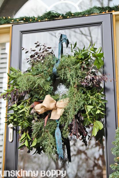 How to make a semi - evergreen wreath
