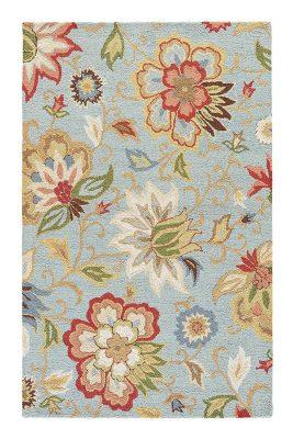 Jaipur Feria blue floral rug