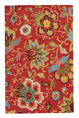 Jaipur Zamora red floral rug