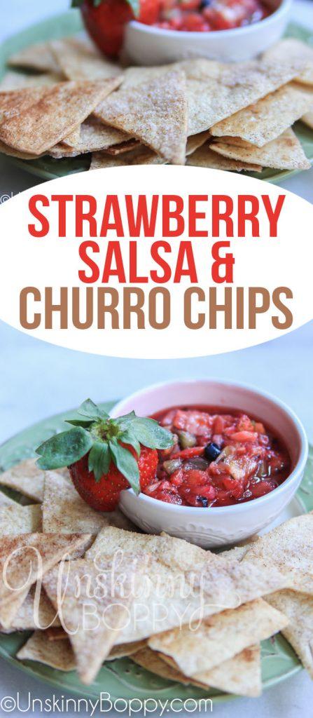 Strawberry Salsa Churro Chips Recipe