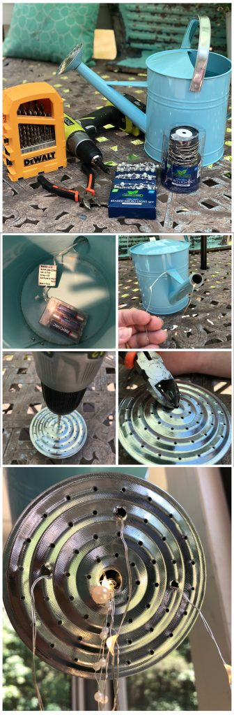 diy lighted watering can tutorial
