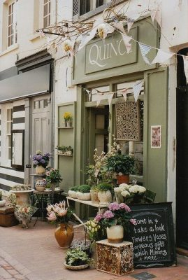 sage green storefront