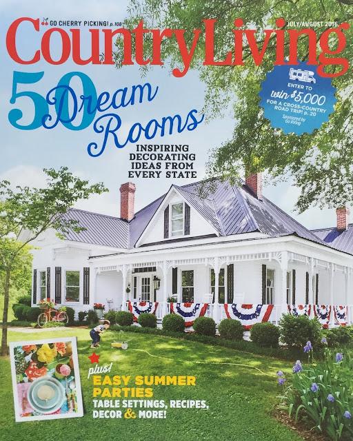 county living magazine cover- patriotic porch