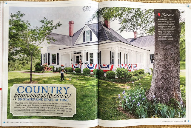 county living patriotic porch
