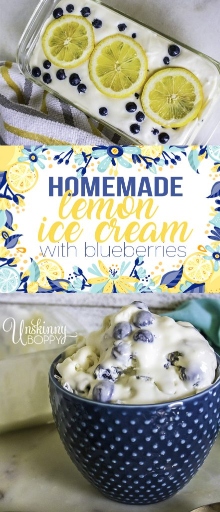 homemade lemon ice cream recipe pin