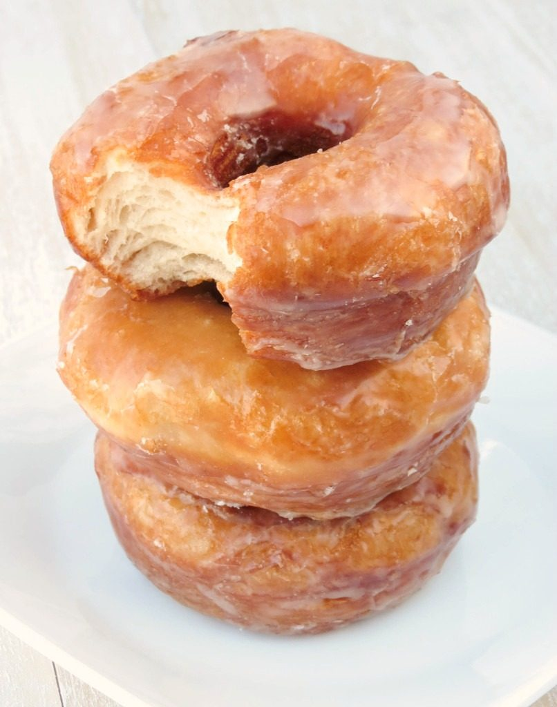 The Best and Easiest Glazed Doughnuts by SprinkleSomeSugar.com