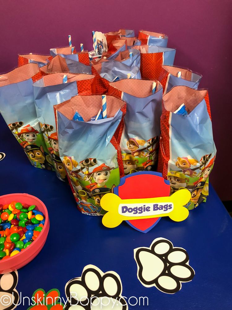 Paw Patrol birthday favors