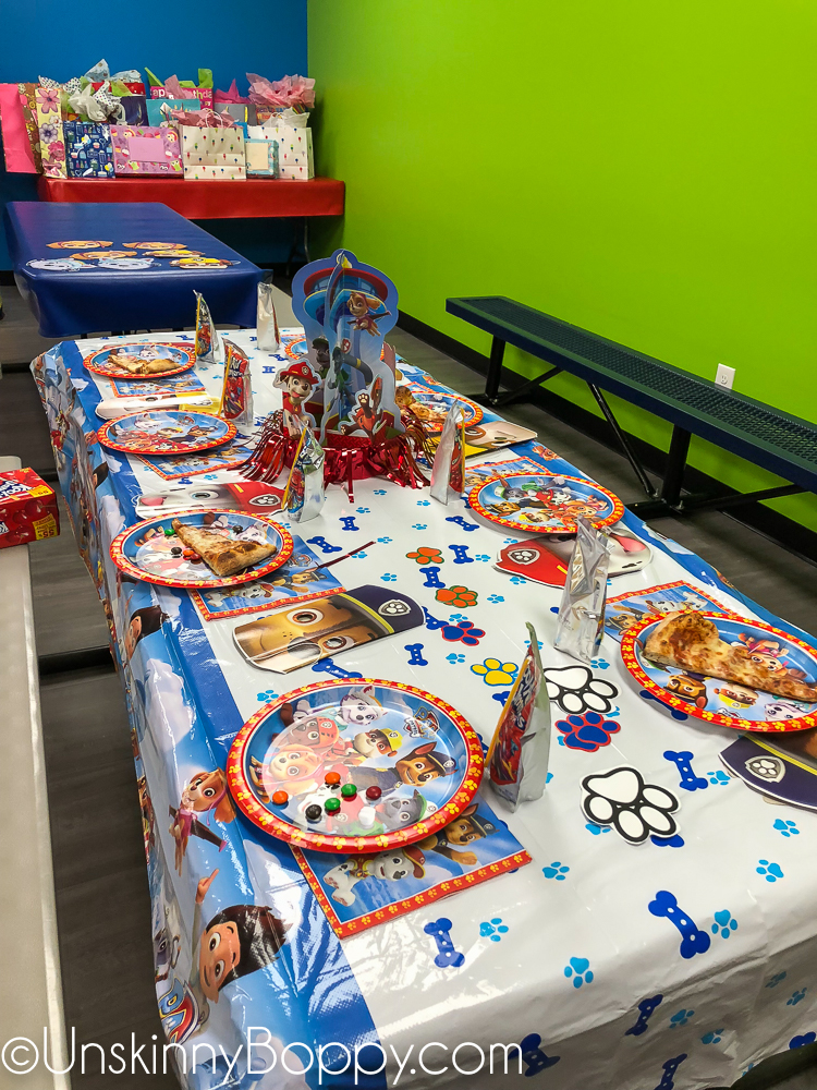 Paw Patrol birthday party at Pump it Up