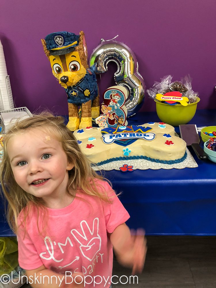 3 year old Paw Patrol party ideas