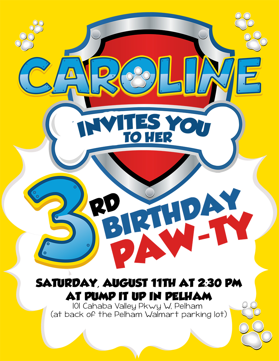 Paw Patrol Birthday Invite