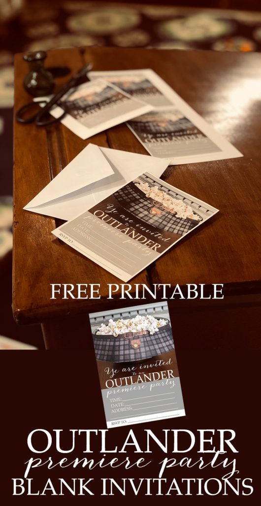 OUTLANDER FREE PRINTABLE PARTY INVITES