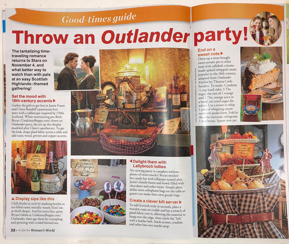 Outlander Party Ideas from Womans World