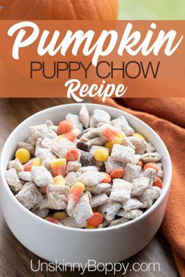 Pumpkin puppy chow recipe
