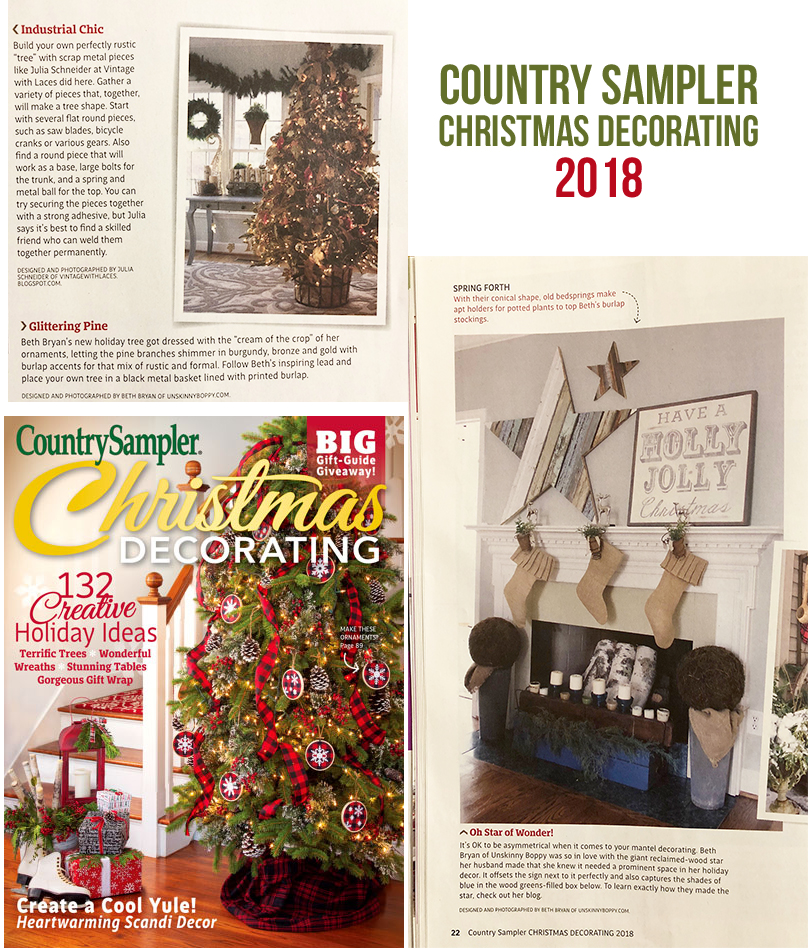 country sampler christmas 2018