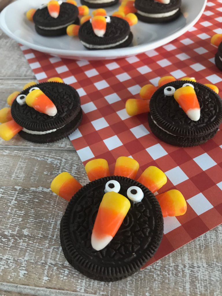 Oreo Turkey Cookies for Thanksgiving