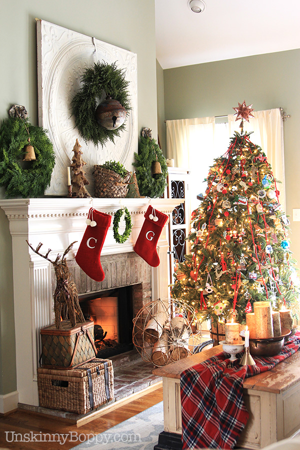 Christmas Decor Ideas.Plaid And Buffalo Check Christmas Decorating Ideas