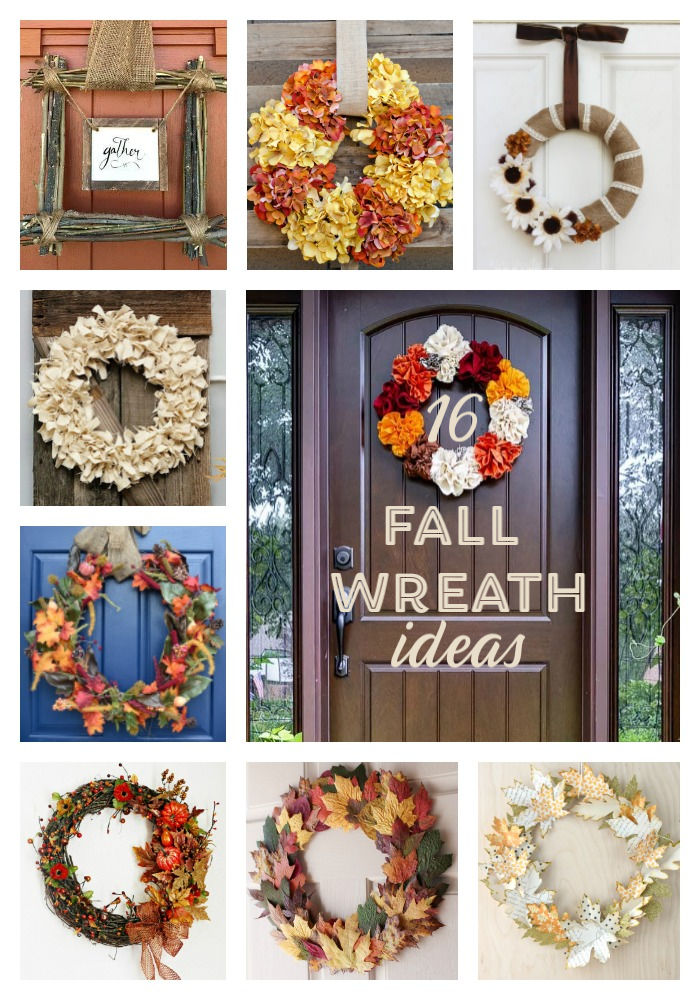 These Fall Wreaths are the perfect decorations for your front door. Test your inner creativity with this simple DIY homemade wreaths! #DIY #homemade #wreaths