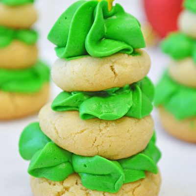 Easy! Sugar Cookie Christmas Trees