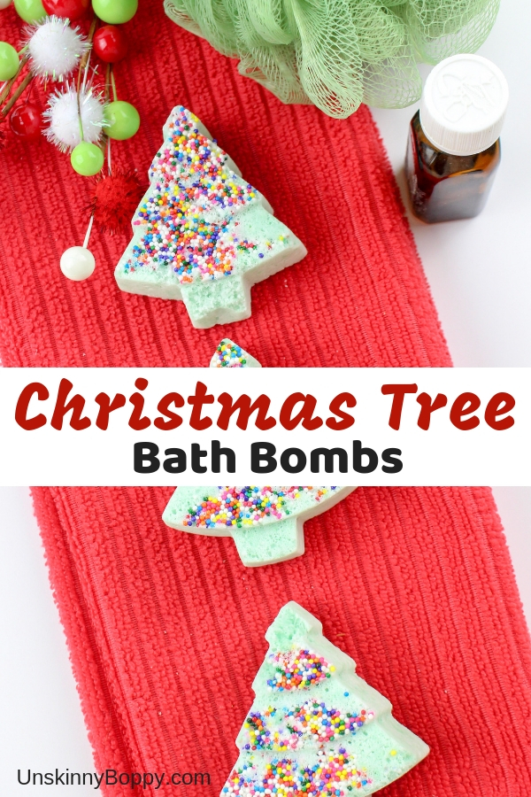 Looking for a homemade gift idea perfect for your family and friends? These Christmas Tree bath bombs are just what you need!