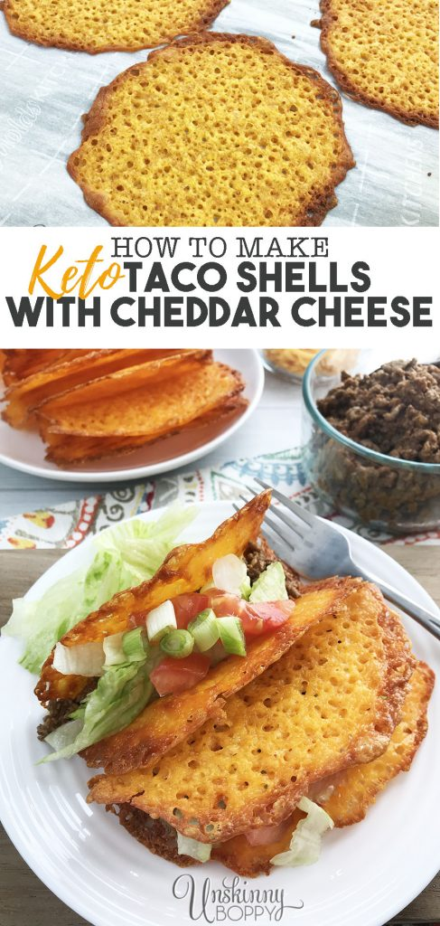 "Easy Keto dinner- taco night with cheddar cheese taco ""shells""."