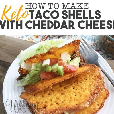 How to make Keto Taco Shells with Cheddar Cheese