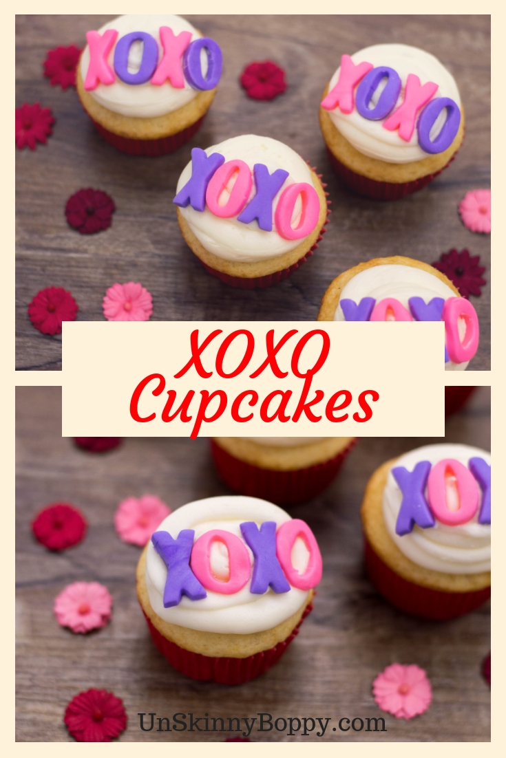 If you're looking for some delicious XOXO Cupcakes, look no further than this great recipe! Simple, delicious and perfect for Valentine's Day! #cupcakes #xoxo #love