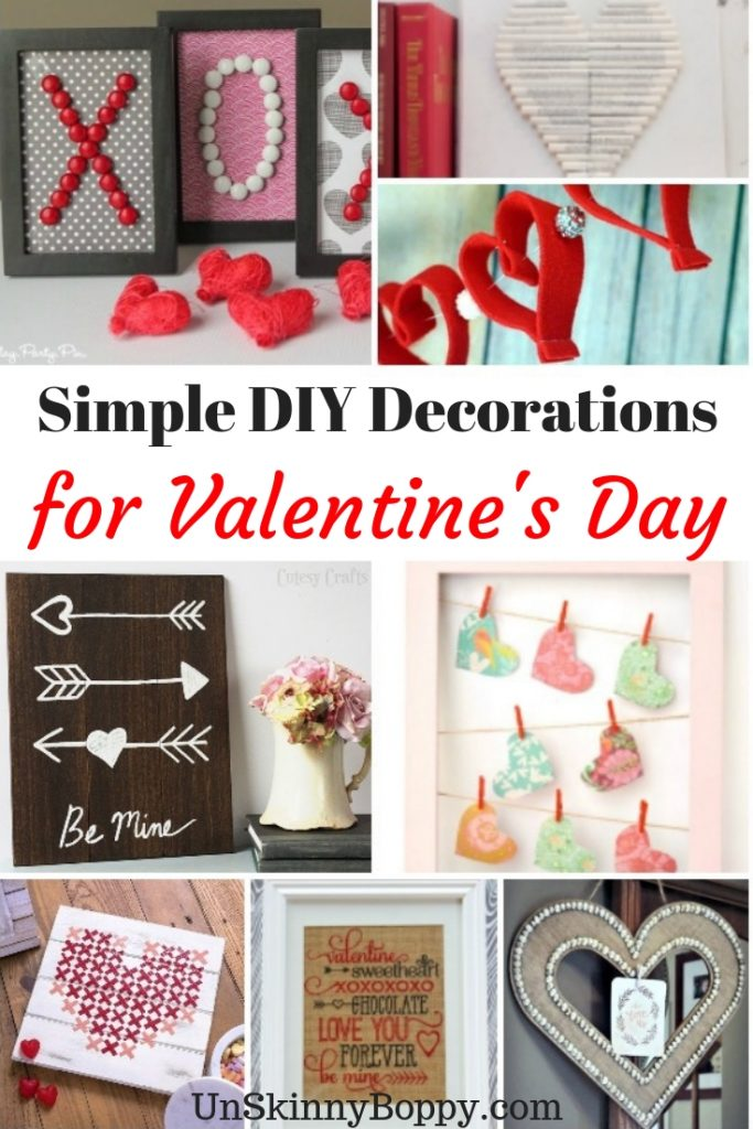 These DIY decorations for Valentines Day are simple and easy to do! Decorate your home with ease! #valentinesdecor #Valentinesday #homedecor
