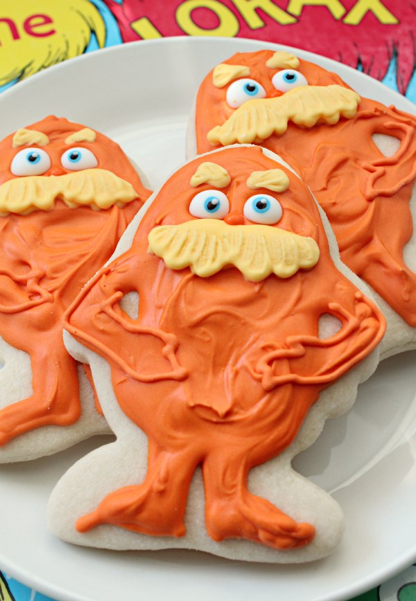 Dr. Suess Lorax cookies