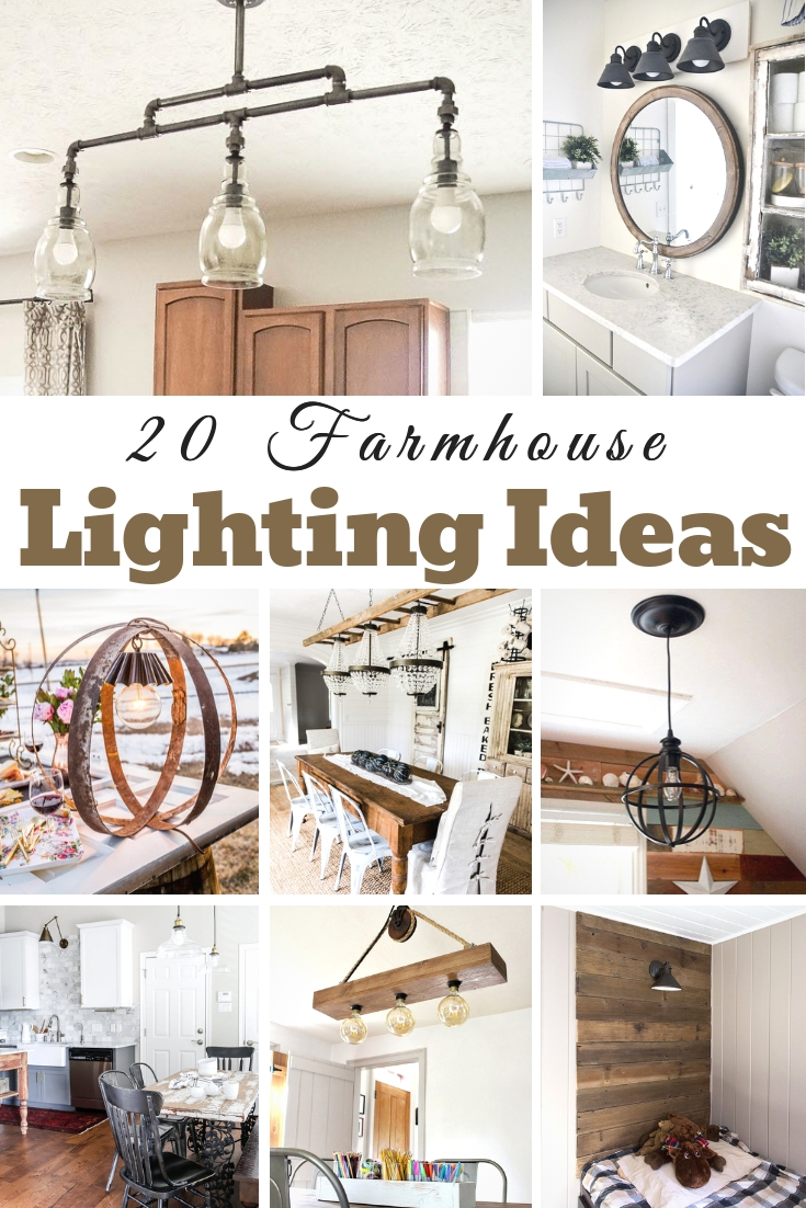 These DIY Farmhouse Lighting ideas are simple and easy to do. You can add a touch of homemade to your home with ease! Easy to do!