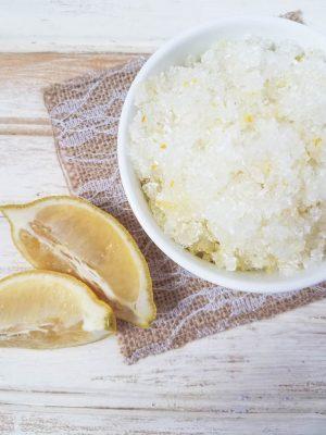 DIY homemade salt scrub