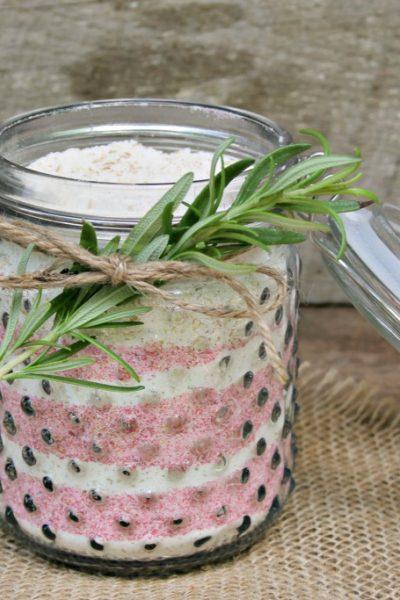 milk bath made with essential oils