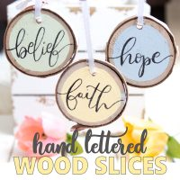 Hand lettered Easter ornaments