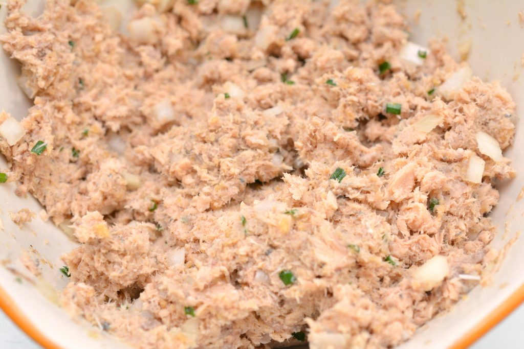 keto salmon patties mixture