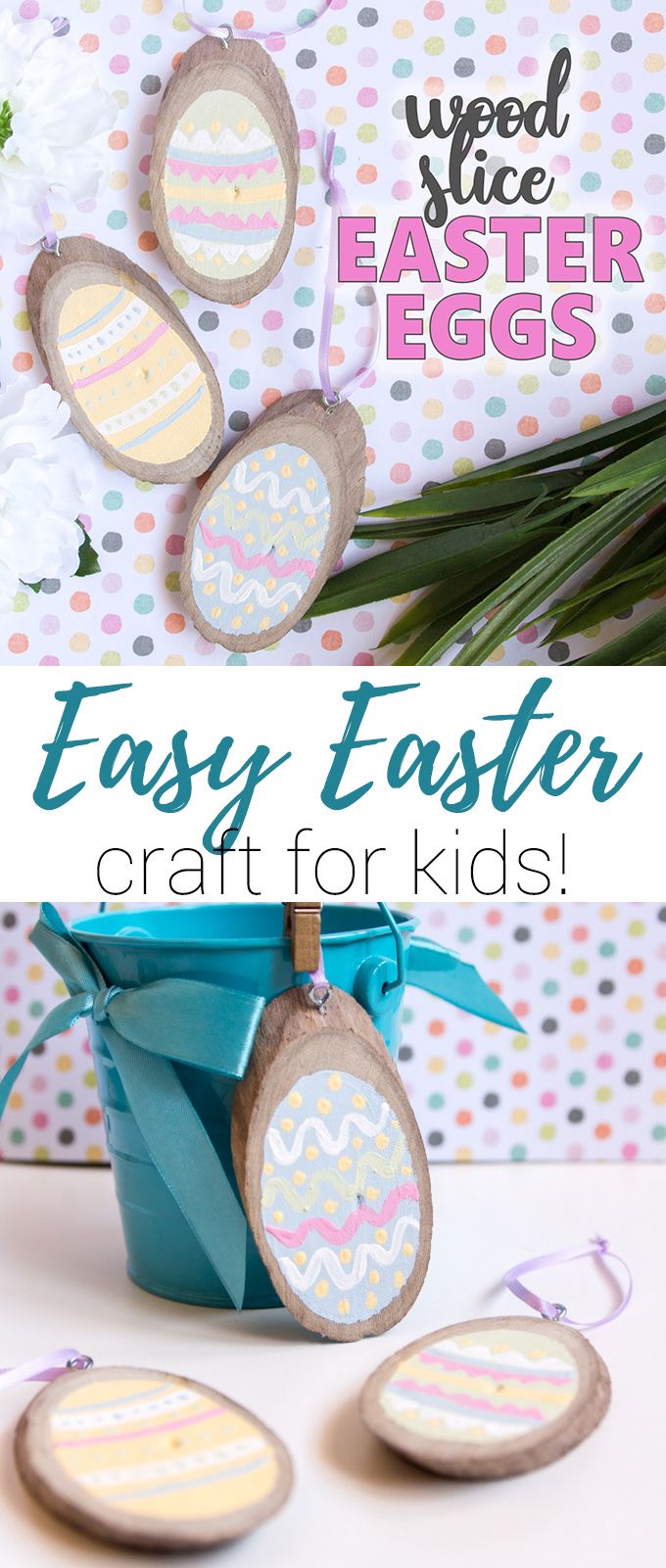 These Wooden Easter Egg Ornaments are just too cute to pass up. Not only are they simple, but they are so much fun to make as well!