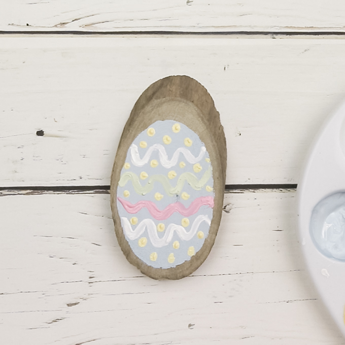 Wooden Easter egg Ornaments