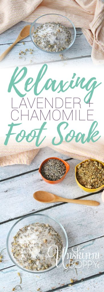 LAVENDER + CHAMOMILE FOOT SOAK RECIPE